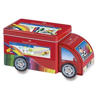 Obrázek produktu Dětské fixy Faber-Castell Connector - plechové autíčko, 33 barev