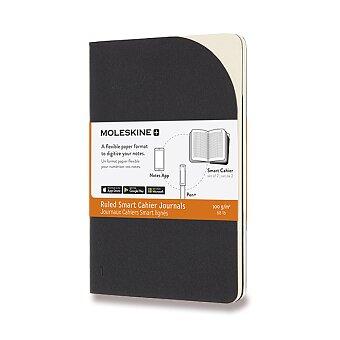 Obrázek produktu Sešity Moleskine Smart - měkké desky - S, linkované, 2 ks, černé