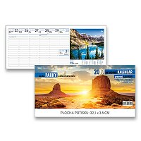 Stolní kalendář Národní parky
