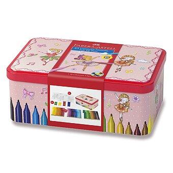 Obrázek produktu Dětské fixy Faber-Castell Connector - balerínka, 33 barev