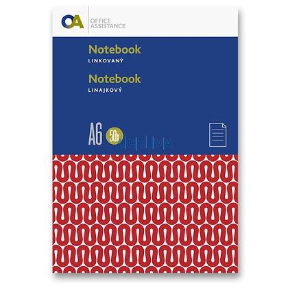 Obrázok produktu OA - záznamová kniha - A6, 100 l., linajková