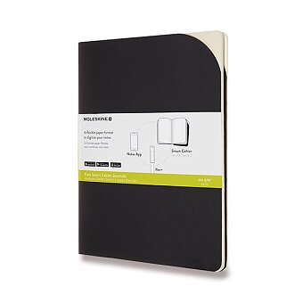 Obrázek produktu Sešity Moleskine Smart - měkké desky - XL, čisté, 2 ks, černé