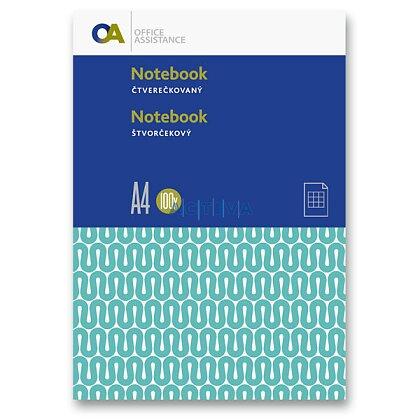 Obrázok produktu OA - záznamová kniha - A4, 100 l., štvorčeková