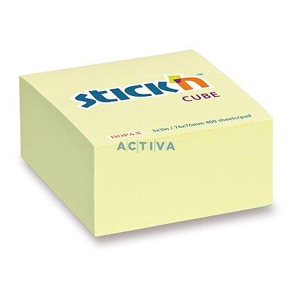 Obrázek produktu Hopax Stick'n Notes - samolepicí bloček - 76 x 76 mm, 400 l., pastel, žlutý