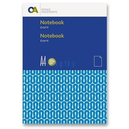 Obrázok produktu OA - záznamová kniha - A4, 100 l., čistá