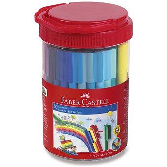 Obrázek produktu Dětské fixy Faber-Castell Connector - dóza, 50 barev
