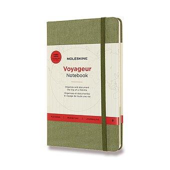 Obrázek produktu Zápisník Moleskine Voyageur - tvrdé desky - zelený