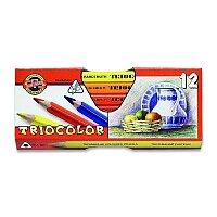 Pastelky Koh-i-noor 3152/12 Triocolor Jumbo