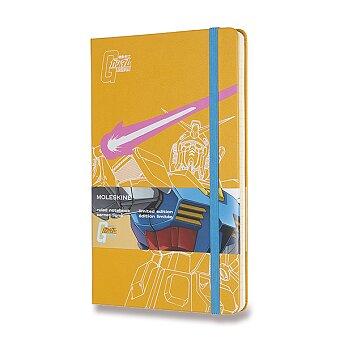 Obrázek produktu Zápisník Moleskine Gundam - tvrdé desky - L, linkovaný, žlutý