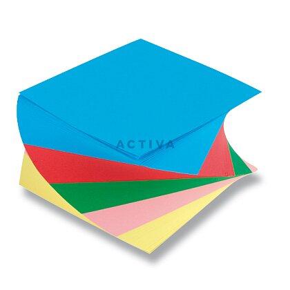 Obrázok produktu Poznámkový bloček - 9 x 9 x 5 cm, farebná špirála, lepená
