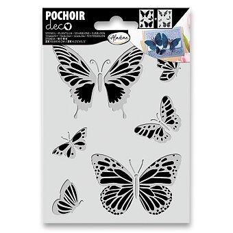 Obrázek produktu Plastová šablona AladinE Duo - Motýli - 10,8 x 14 cm