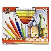 Pastelky Koh-i-noor 3154/24 Triocolor Jumbo