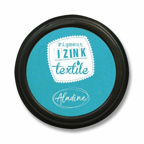 Razítkovací polštářek Izink Textile tyrkysová