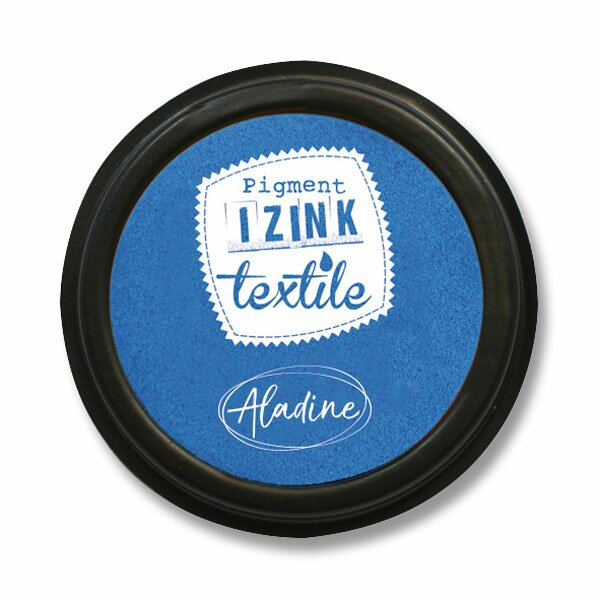 Razítkovací polštářek Izink Textile modrá