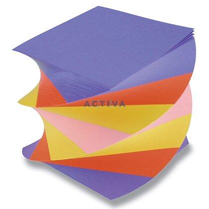 Obrázok produktu Poznámkový bloček - 9 x 9 x 9 cm, farebná špirála, lepená