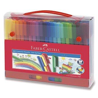 Obrázek produktu Dětské fixy Faber-Castell Connector - taška, 60 barev