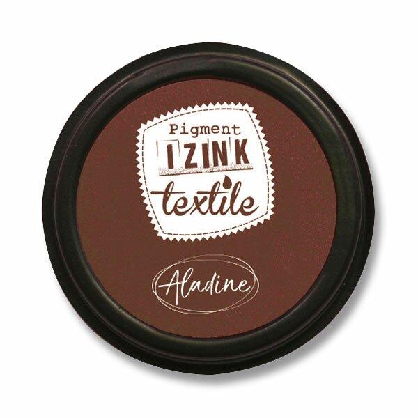 Razítkovací polštářek Izink Textile hnědá