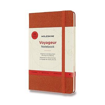 Obrázek produktu Zápisník Moleskine Voyageur - tvrdé desky - oranžový