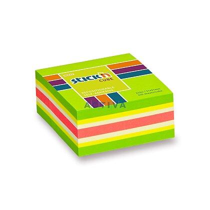 Obrázek produktu Hopax Stick'n Neon Cube Notes - samolepicí bloček - 51 × 51 mm, zelený