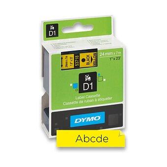 Obrázek produktu Polyesterová páska Dymo D1 - 24 mm x 7 m, černý tisk/ žlutá páska