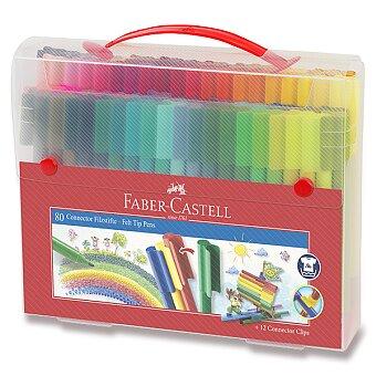 Obrázek produktu Dětské fixy Faber-Castell Connector - taška, 80 barev